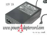 12V 2A Barrel 5.5/2.5mm 2-Prong ADP-24AB NEW Power AC Adapter