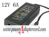12V 6A Barrel 5.5/2.5mm IEC C14 YU1206 NEW Power AC Adapter