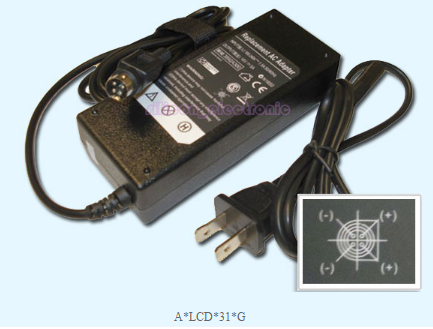 NEW Acer AL2032W LCD Monitor 4 Pin 18V 5A 90W AC Adapter Charger Power Supply